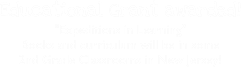 Educational Grant awarded! 